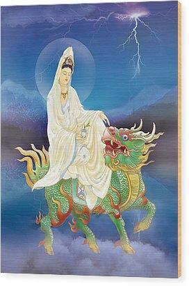 Chi Lin Kuan Yin Wood Print by Lanjee Chee