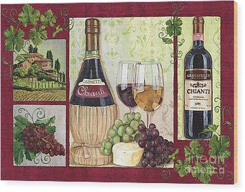 Chianti And Friends 2 Wood Print by Debbie DeWitt