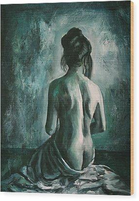 Chiaro Di Luna  Wood Print by Escha Van den bogerd