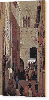 Chiaroscuro Siena  Wood Print