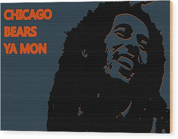 Chicago Bears Ya Mon Wood Print by Joe Hamilton