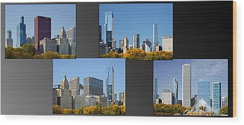 Chicago City Of Skyscrapers Wood Print by Christine Till
