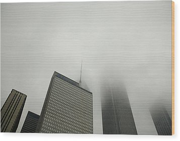 Chicago Cloud Atlas Wood Print by Joanna Madloch