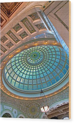 Chicago Cultural Center Tiffany Dome Wood Print by Kevin Eatinger