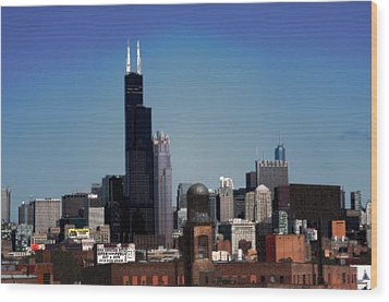 Chicago Wood Print by David Blank