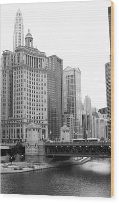 Chicago Downtown 2 Wood Print by Bruce Bley