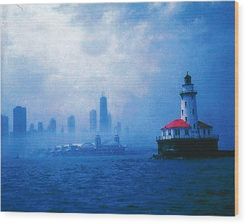 Chicago Fog Wood Print