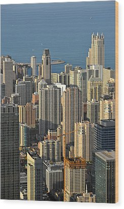 Chicago From Above - What A View Wood Print by Christine Till