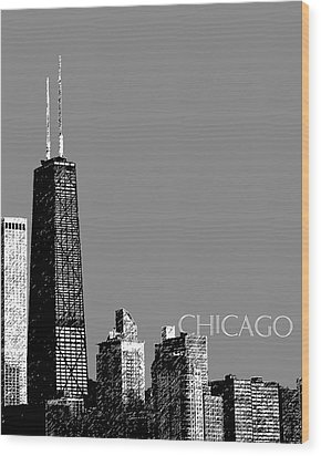 Chicago Hancock Building - Pewter Wood Print by DB Artist