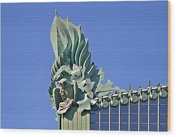Chicago - Harold Washington Library Wood Print by Christine Till
