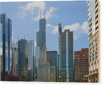 Chicago - It's Your Kind Of Town Wood Print by Christine Till