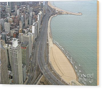 Chicago Lakeshore Wood Print by Ann Horn