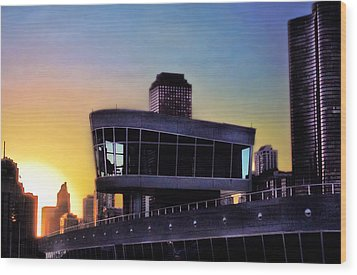 Wood Print featuring the photograph Chicago Lock Tower by John Hansen
