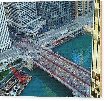Chicago Marathon 2008 Wood Print by Kay Gilley