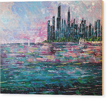 Chicago Morning - Sold Wood Print