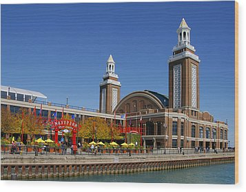 Chicago Navy Pier Headhouse Wood Print by Christine Till