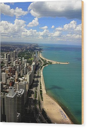 Chicago On The Lake Wood Print