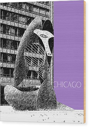 Chicago Pablo Picasso - Violet Wood Print by DB Artist