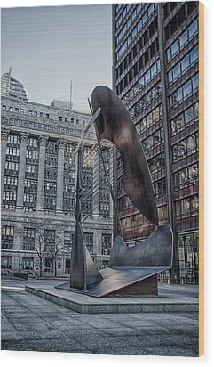 Chicago Picasso Wood Print by Mike Burgquist
