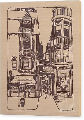 Chicago. Pipers Alley On Wells Street Wood Print