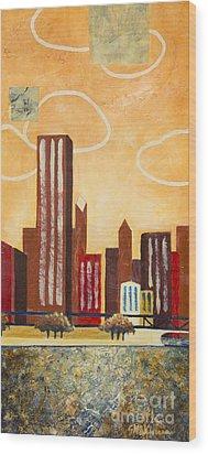 Chicago River I Wood Print