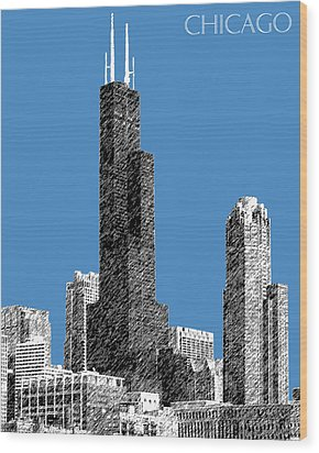 Chicago Sears Tower - Slate Wood Print by DB Artist