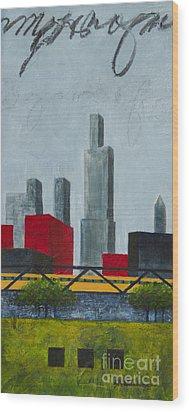 Chicago Skyline I Wood Print