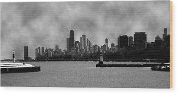 Chicago Skyline Wood Print