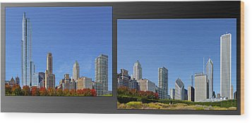 Chicago Skyline Of Superstructures Wood Print by Christine Till