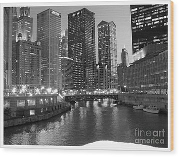 Chicago Sparkle Wood Print by Jesse Forrister