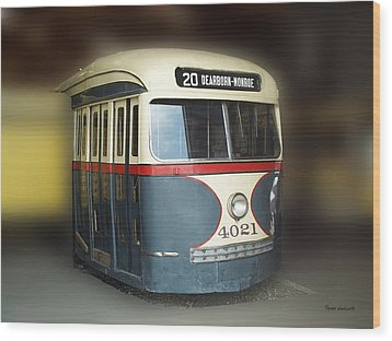 Chicago Street Car 20 Wood Print by Thomas Woolworth