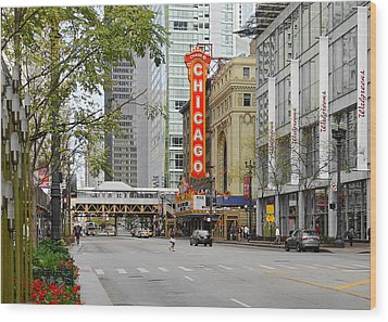 Chicago Theatre - French Baroque Out Of A Movie Wood Print by Christine Till