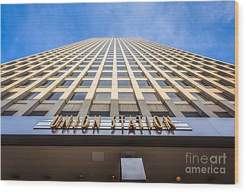 Chicago Union Station Sign And Building Exterior Wood Print by Paul Velgos
