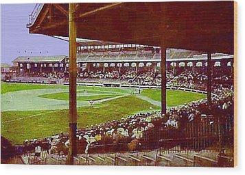 Chicago White Sox Ballpark Stadium Around 1920 Wood Print by Dwight Goss