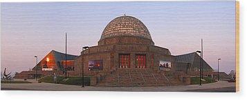 Chicago's Adler Planetarium Wood Print by Adam Romanowicz