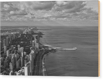 Chicago's Lake Front Wood Print by Jerome Lynch
