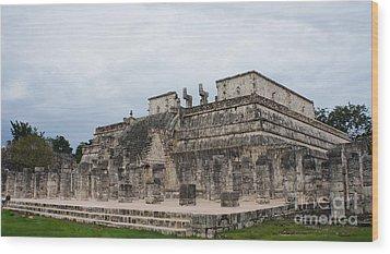 Chichen Itza Ruins 17 Wood Print