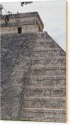 Chichen Itza Ruins 22 Wood Print