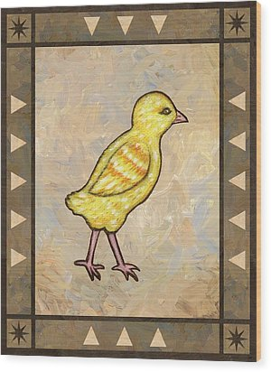 Chick One Wood Print by Linda Mears