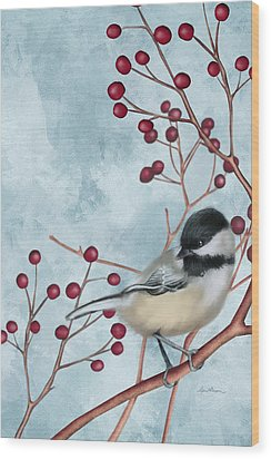 Chickadee I Wood Print