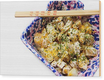 Chicken Cheese Potato Casserole Wood Print by Andee Design