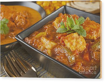 Chicken Jalfrezi Curry Wood Print by Colin and Linda McKie