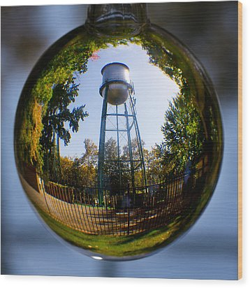 Chico Water Tower Wood Print