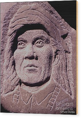 Chief-cochise-2 Wood Print by Gordon Punt