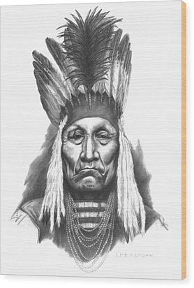 Chief Curly Bear Wood Print by Lee Updike