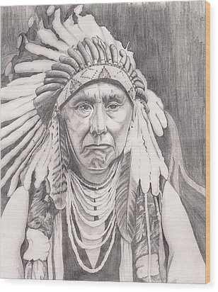 Chief Joseph Wood Print by Beverly Marshall