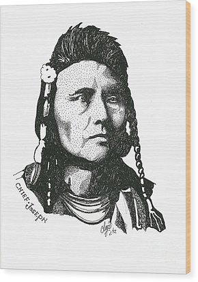 Chief Joseph Wood Print