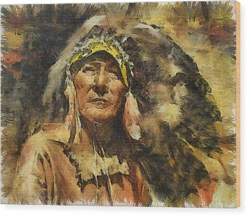Chief Wood Print by Shimi Gasaba