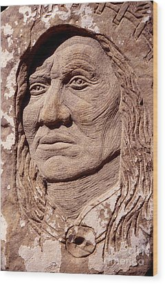 Chief-washakie Wood Print by Gordon Punt