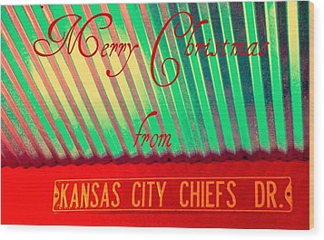 Chiefs Christmas Wood Print by Chris Berry